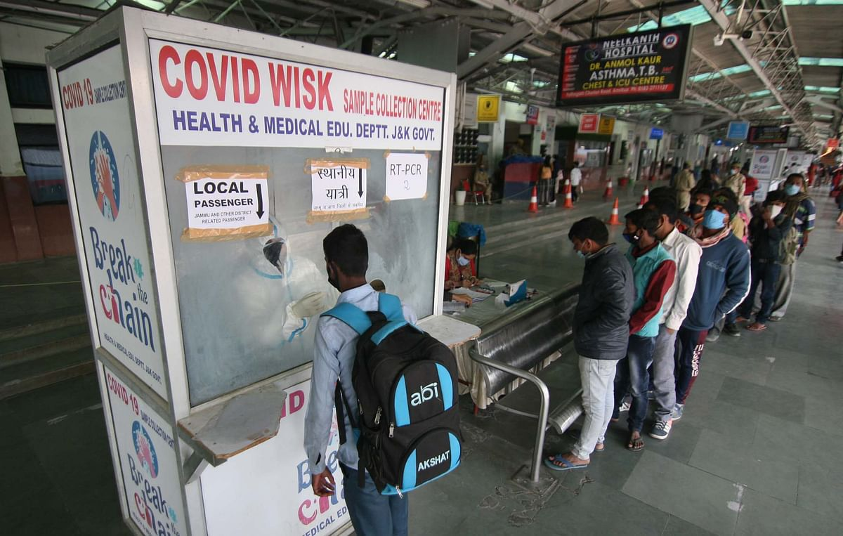 128 new COVID-19 cases in J&K, one death in Jammu