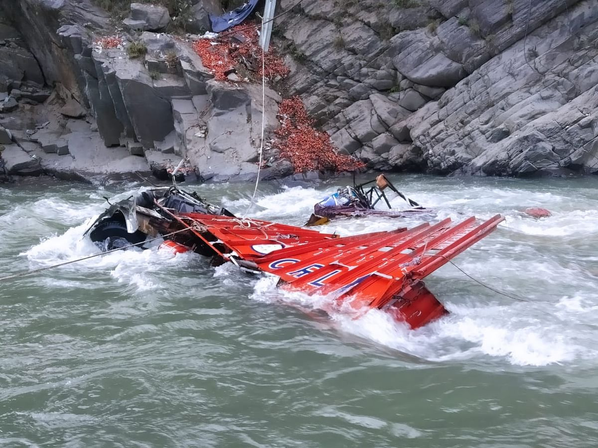 Two missing after truck rolls down into nallah Bishlari in J&K's Ramsoo