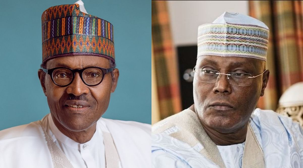 2019 Election:  President Buhari Congratulates Himself in Anticipation of Victory at the Polls... Atiku Disagrees
