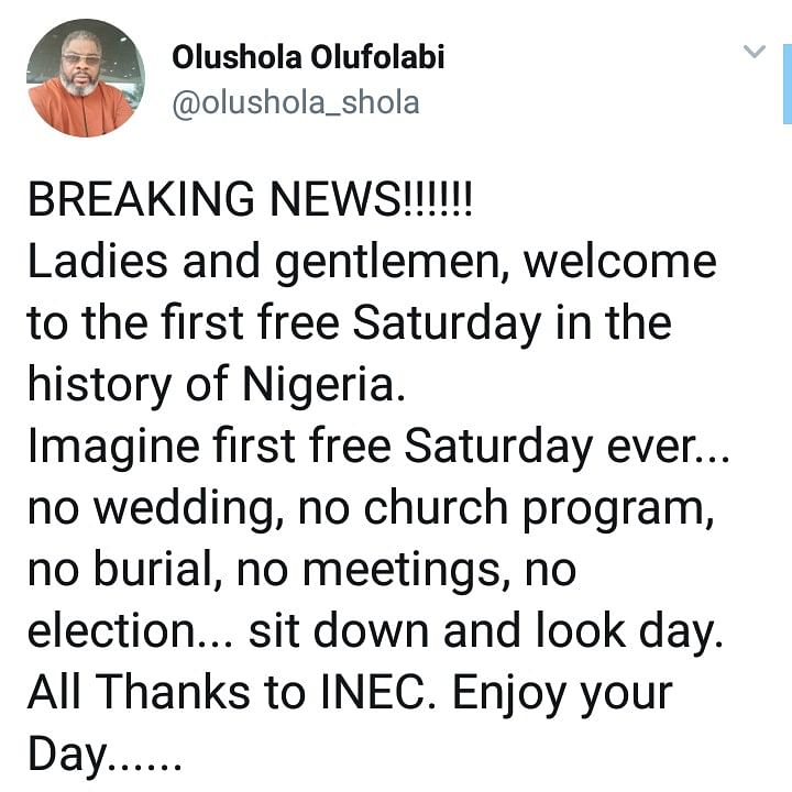 NATIONAL EMBARRASSMENT!!! Nigerians React To Postponement Of Elections By INEC
