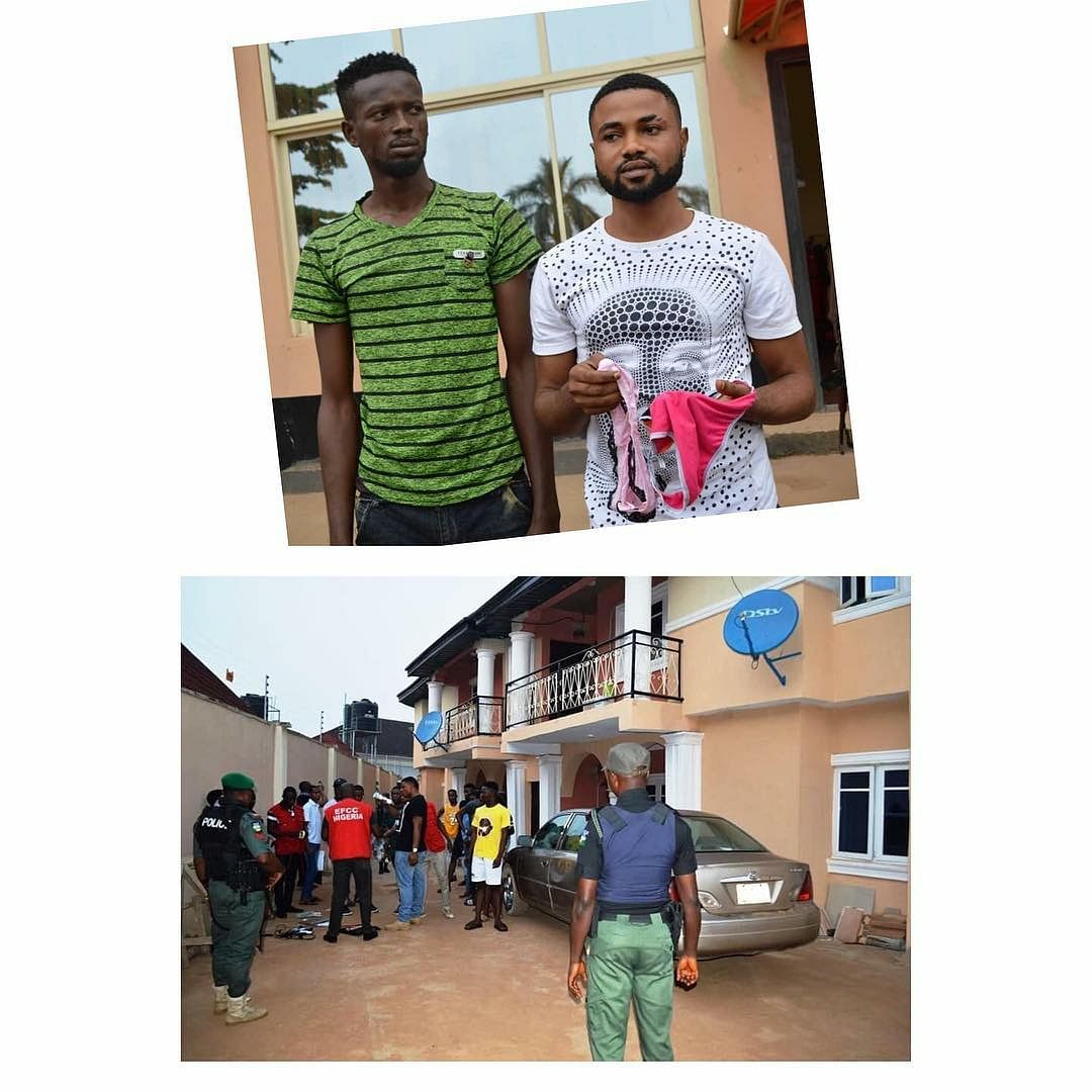 EFCC Busts Yahoo Boys In Ibadan, Recovers Panties, Charms, Cars