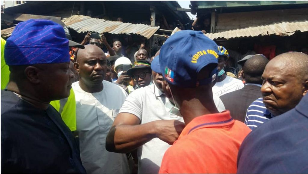 How Ambode Reacted To Building Collapse On Arrival At The Scene