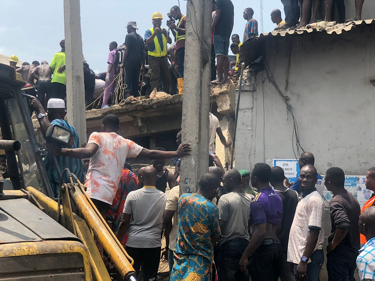 School Building Collapses In Ita-Faji, Lagos Island