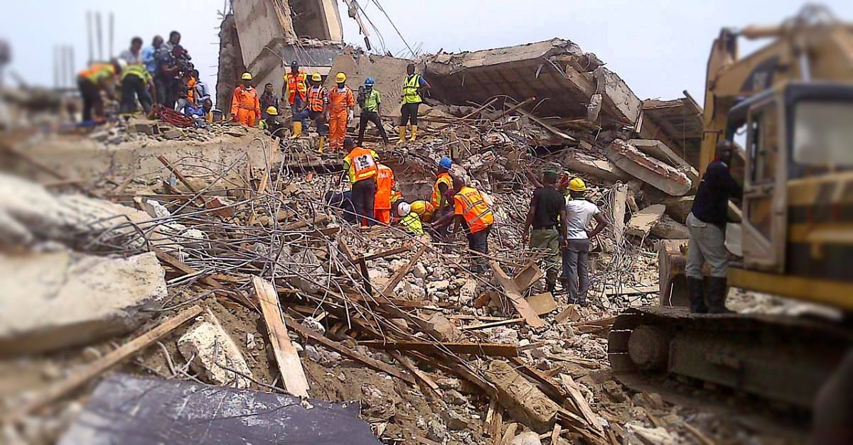 The site of Lagos building collapse