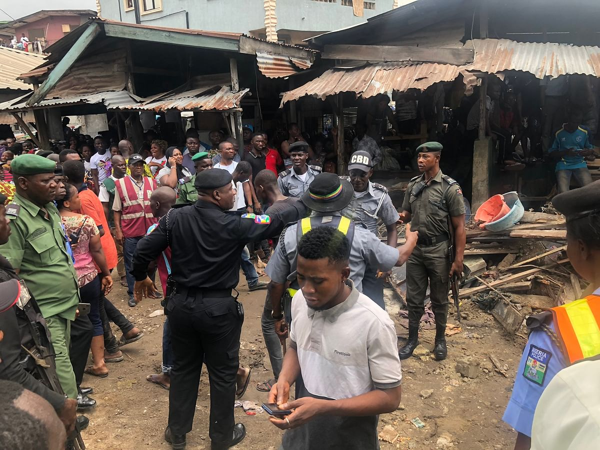 Read What Ambode Said About The Building Collapse On Arrival At The Scene