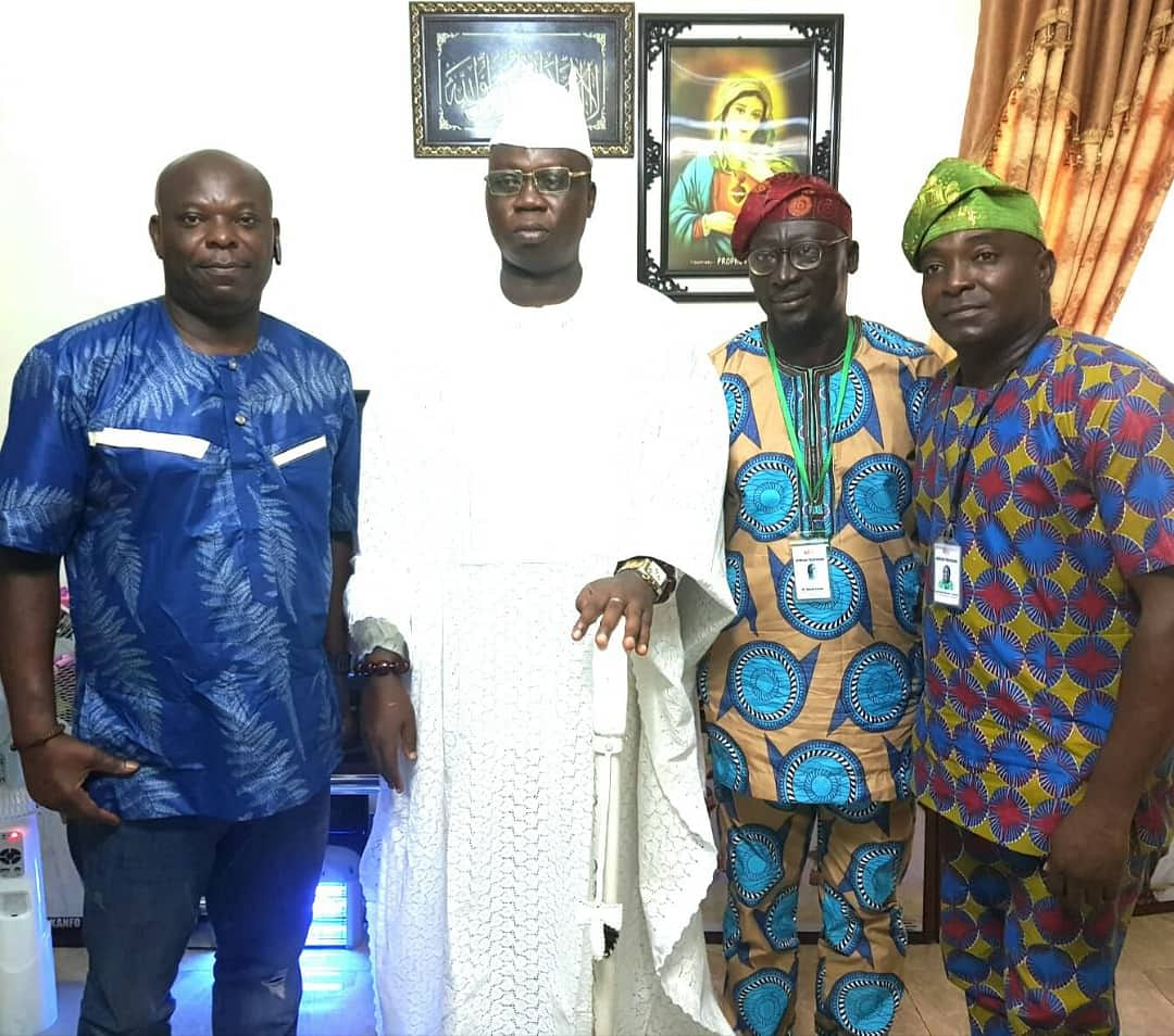 Aare Gani Adams, Larry Omodia and Africa TV crew