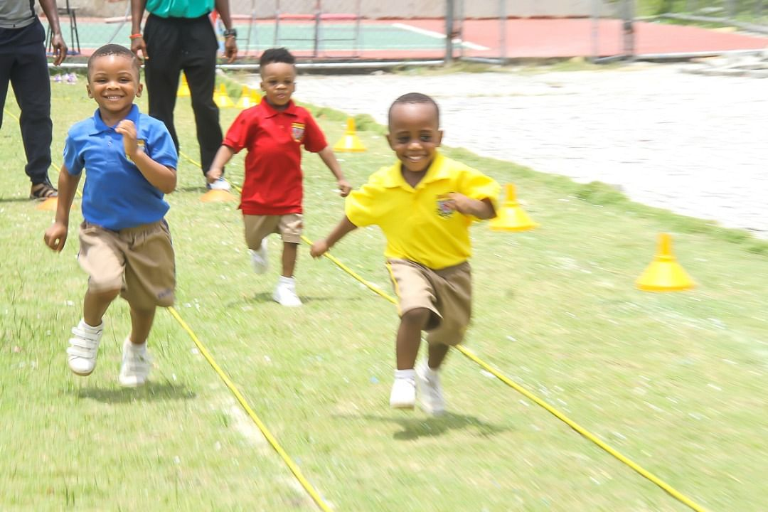 Young Athletes at Artville School Inter-house Sports