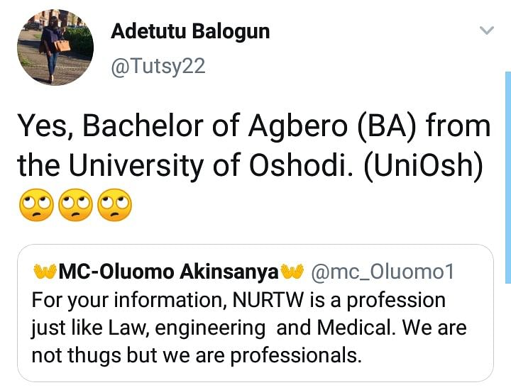 NURTW Is A Profession Like Law, Medicine and Engineering - MC Oluomo