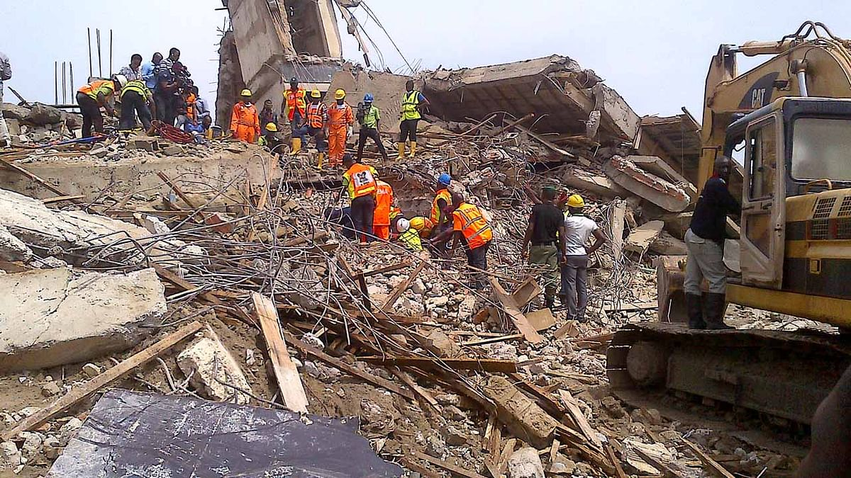 The site Lagos collapse building