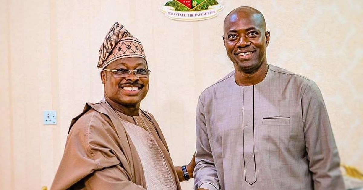 Ajimobi and Oyo Governor-Elect, Seyi Makinde