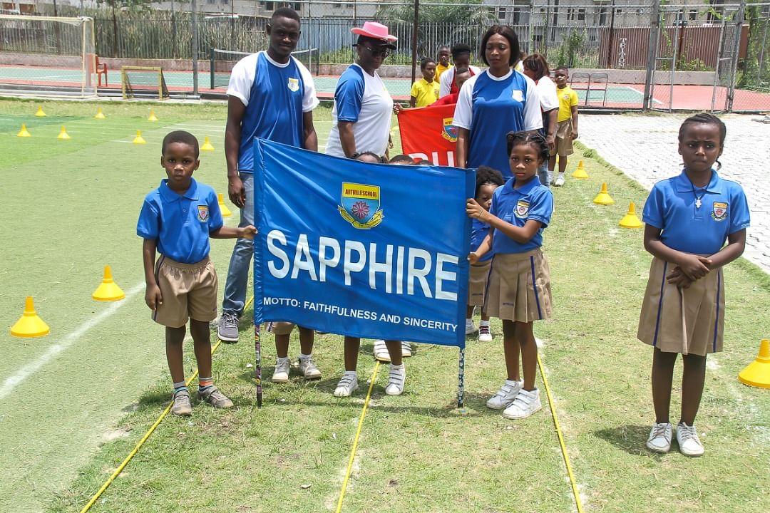 SAPPHIRE house parade at Artville School Inter-house Sports