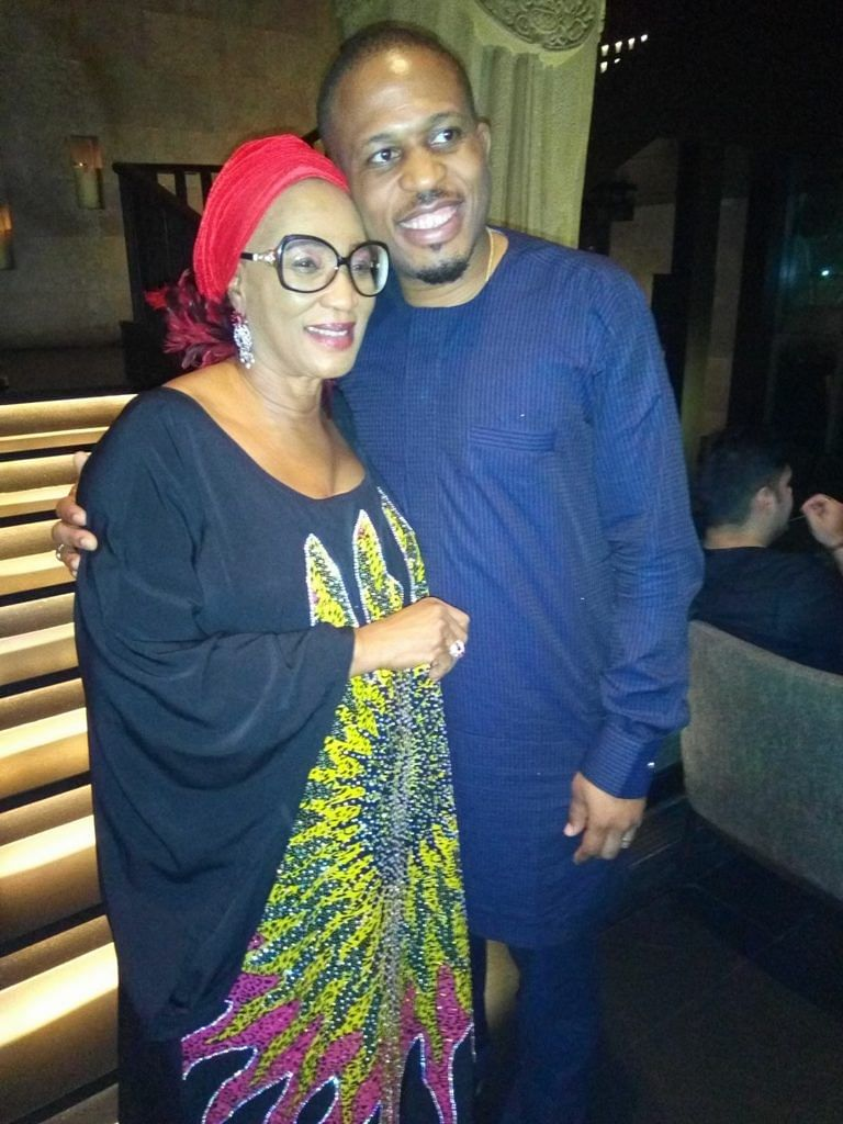Kema with her music star son, Naeto C