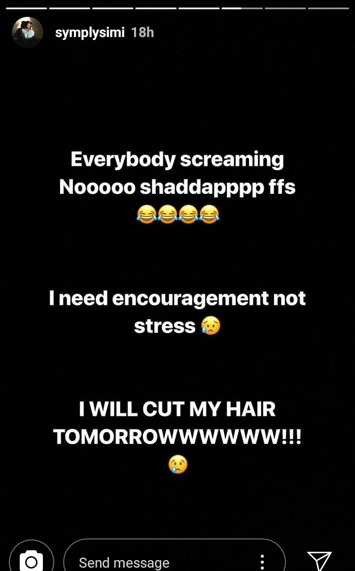 Simi Experiences Hair Loss, Set To Go Bald