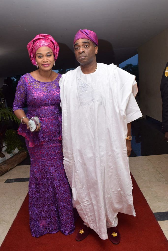 Segun Awolowo and wife (Brides's parents)