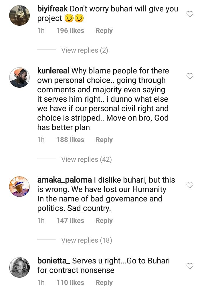 Architect Loses N3.5m Job Because He Is A Buhari Supporter