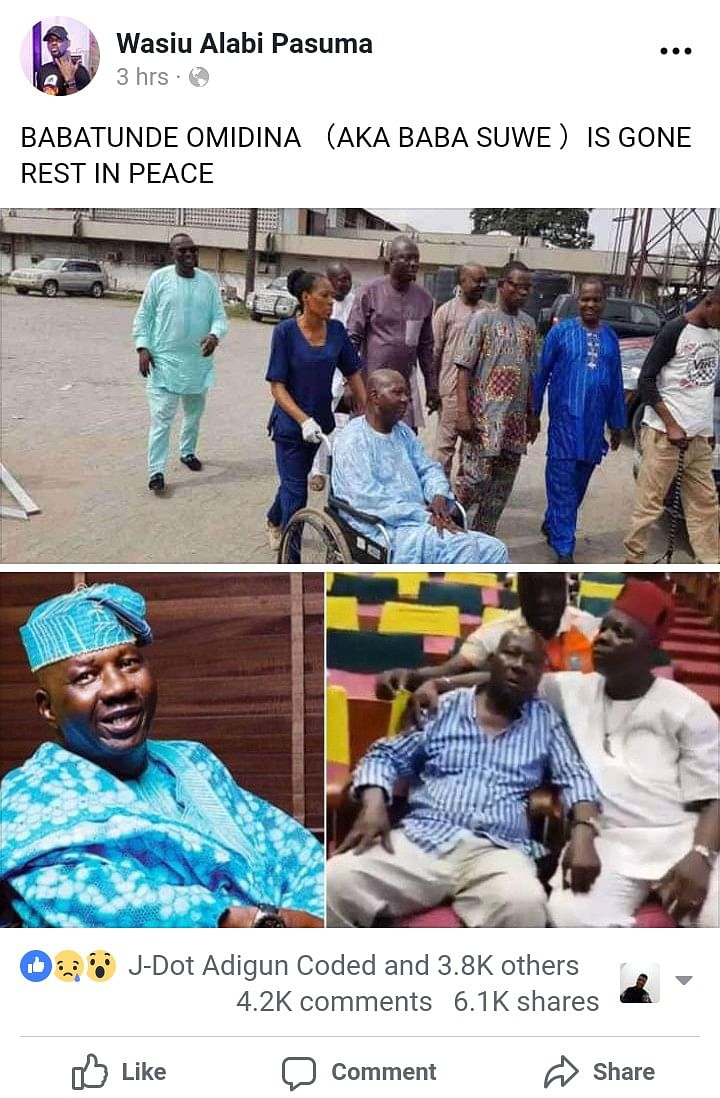 Baba Suwe's Rumoured Death Debunked By Actor Mr. Latin