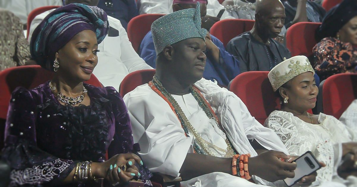 Ooni of Ife, Olufunso Amosun and Erelu of Lagos at the event