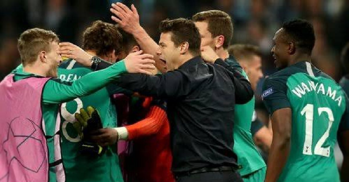 See How Pochettino Celebrated Spur Win In The Dressing Room