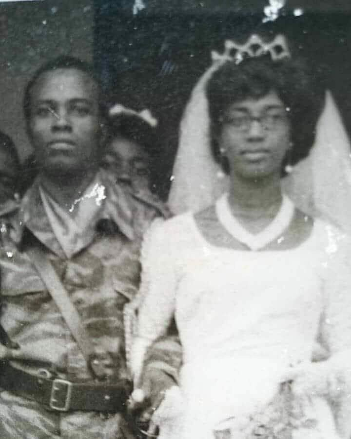 Kema and Chikwe during their wedding in the 60s
