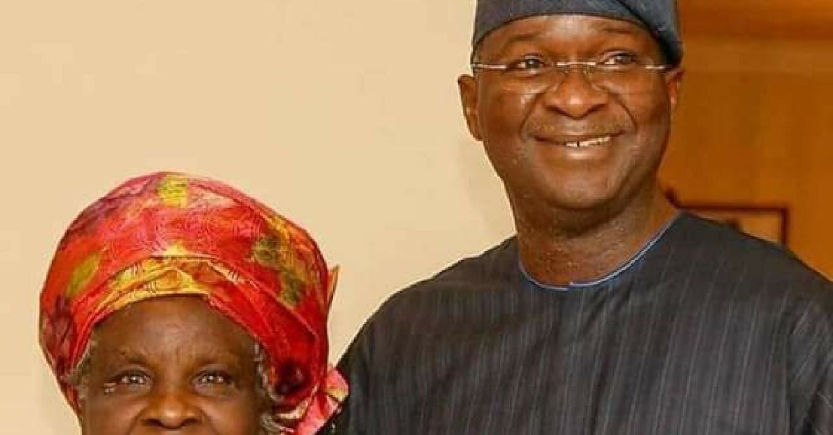 Fashola and mother