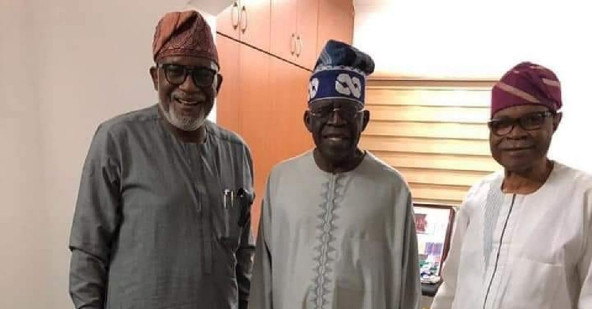 Buhari and Tinubu at the villa