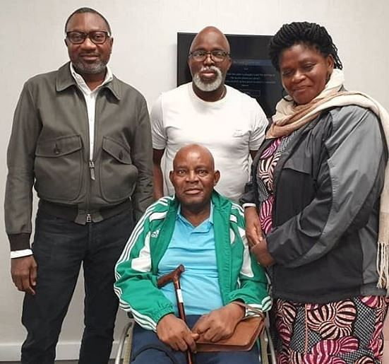Otedola Visits Recuperating Christian Chukwu In London