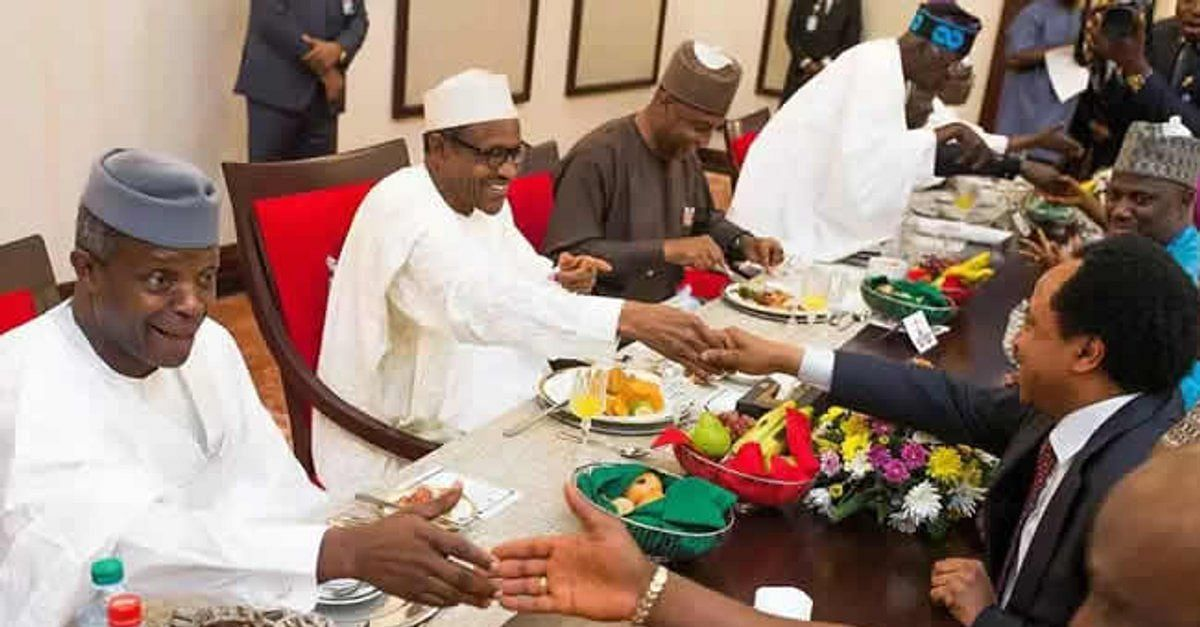 Buhari playing host to Osinbajo, Emefiele, others