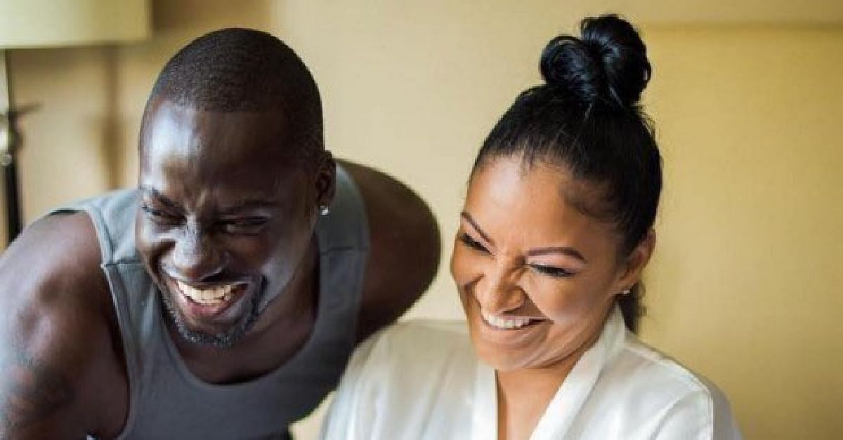 Chris Attoh and wife, Bettie Jennifer
