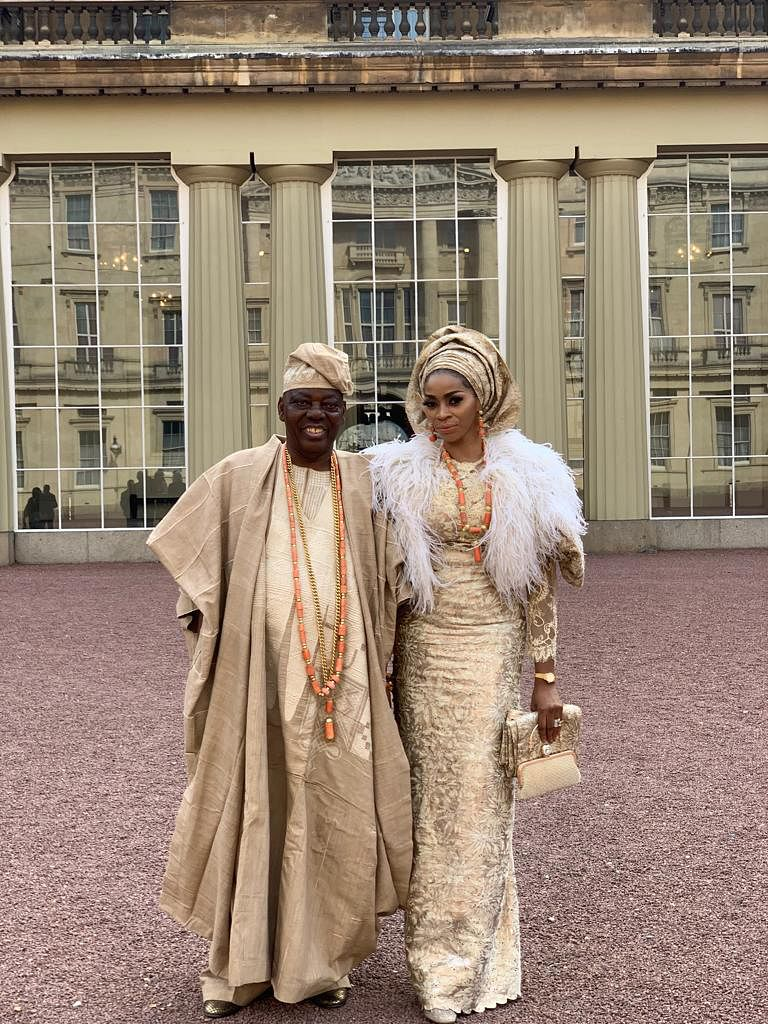 Okoya and wife, Shade