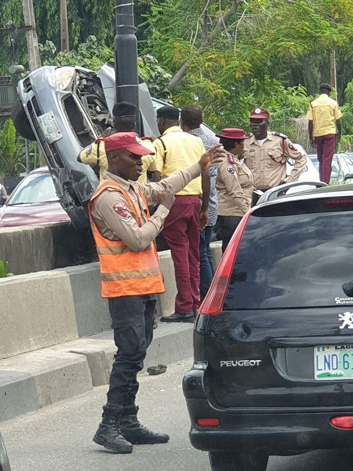 The scene of the accident at Osborne Ikoyi