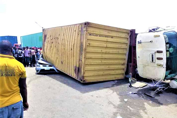 Container Falls On A Car In Mile 2, Kills One