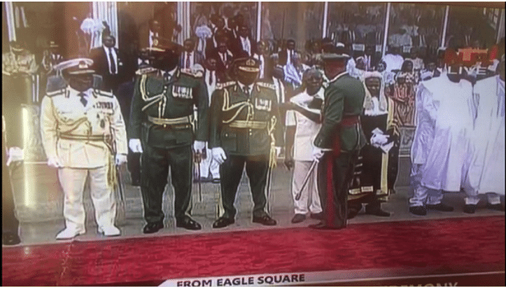 Adams Oshiomole Embarrassed At The Presidential Inauguration