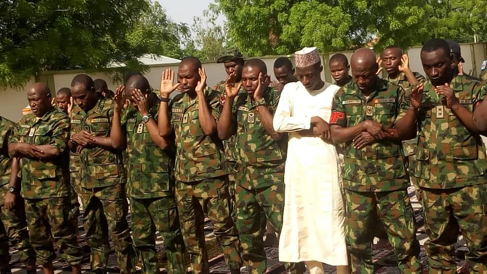 Chief of Army Staff Gen. Tukur Buratai Spends Sallah With Troops