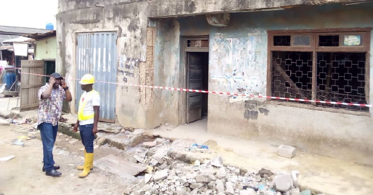 Storey Building Collapses In Lagos, Traps Two