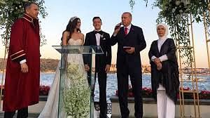 The couples say their vow in the presence of their witnesses