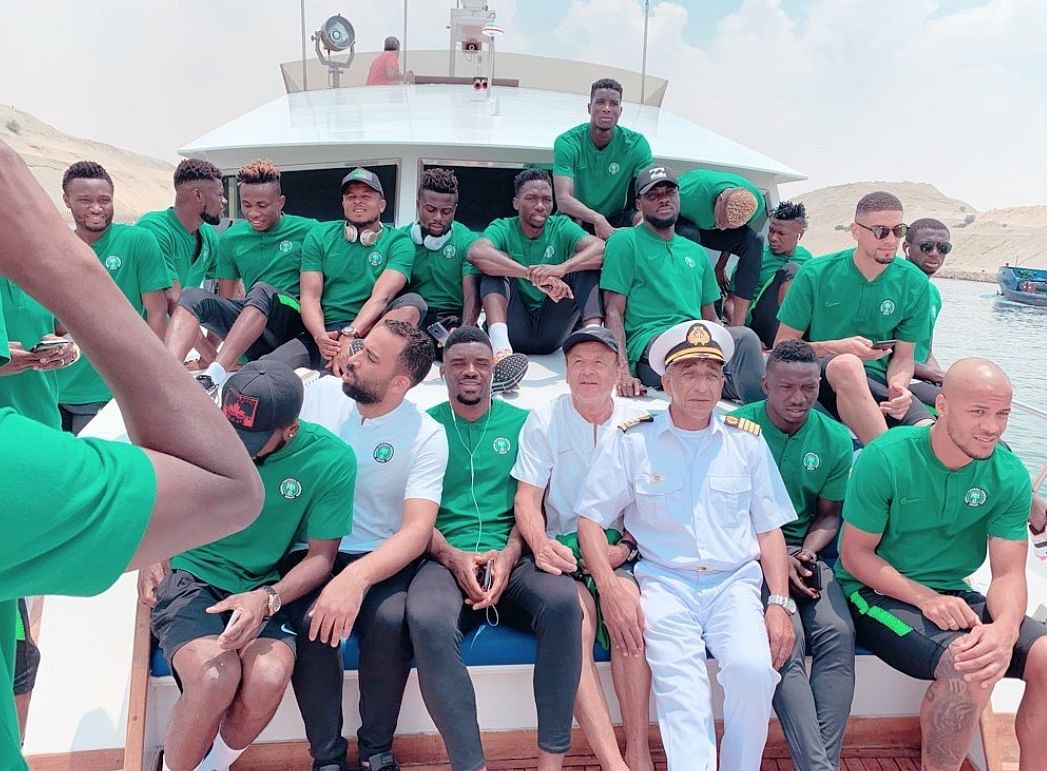 Super Eagles Enjoy Boat Cruise On Day Off In Ismailia