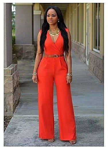 A red jumpsuit look