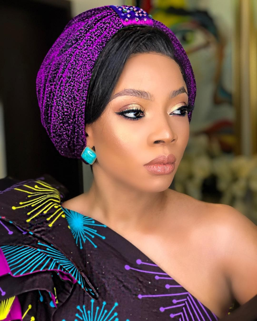 Fans Troll Toke Makinwa For Saying She Wore a Matching Outfit First Before Ini Edo