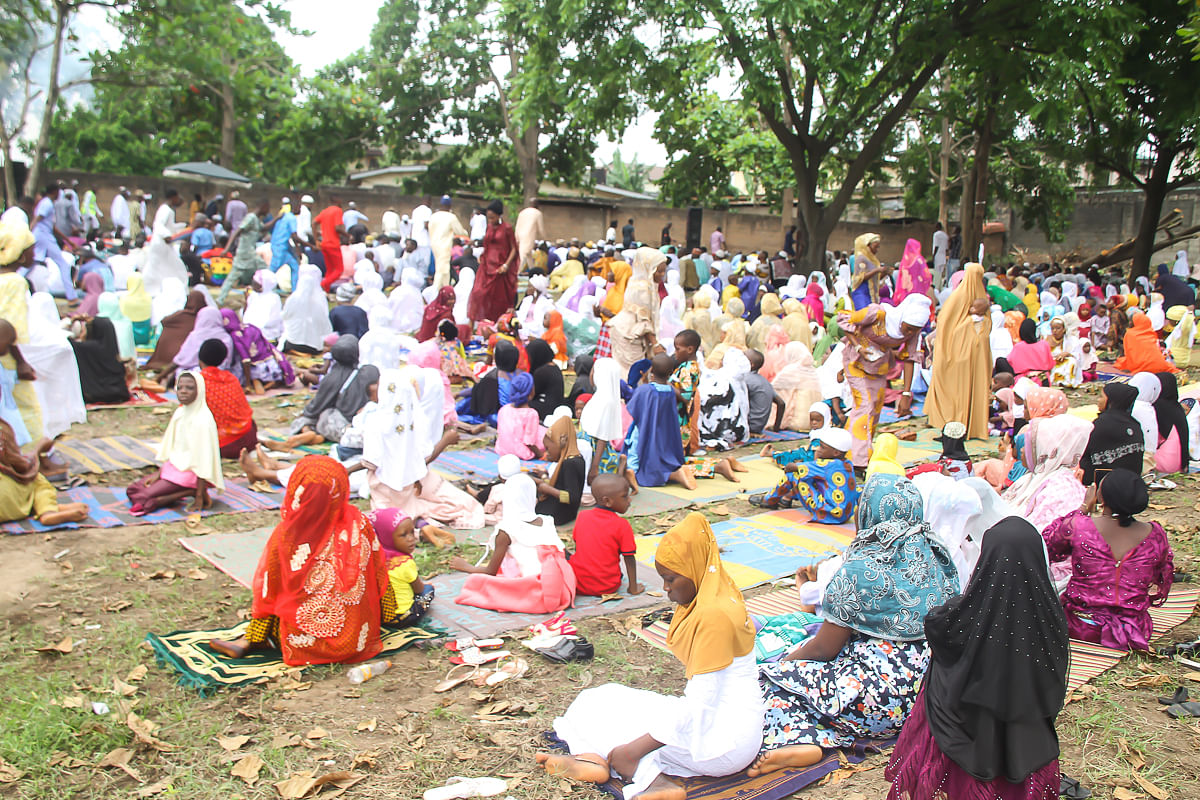Muslims Faithfuls Went Out For Eld-el-Fitri