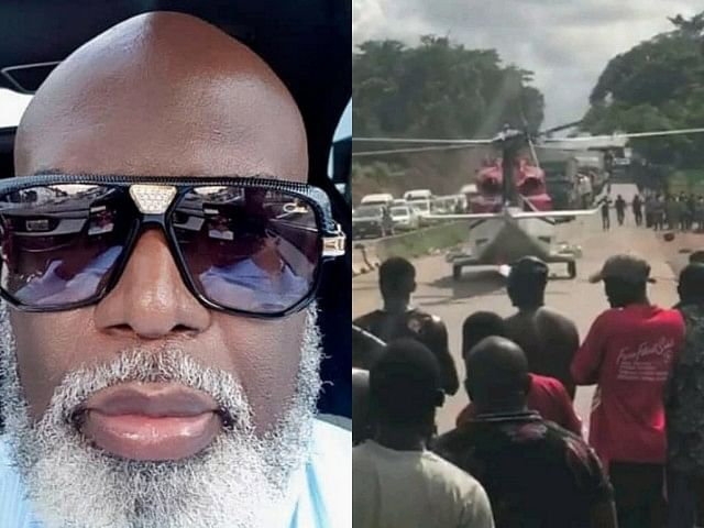 Nigerian Billionaire Escapes Lagos-Benin Traffic In Helicopter