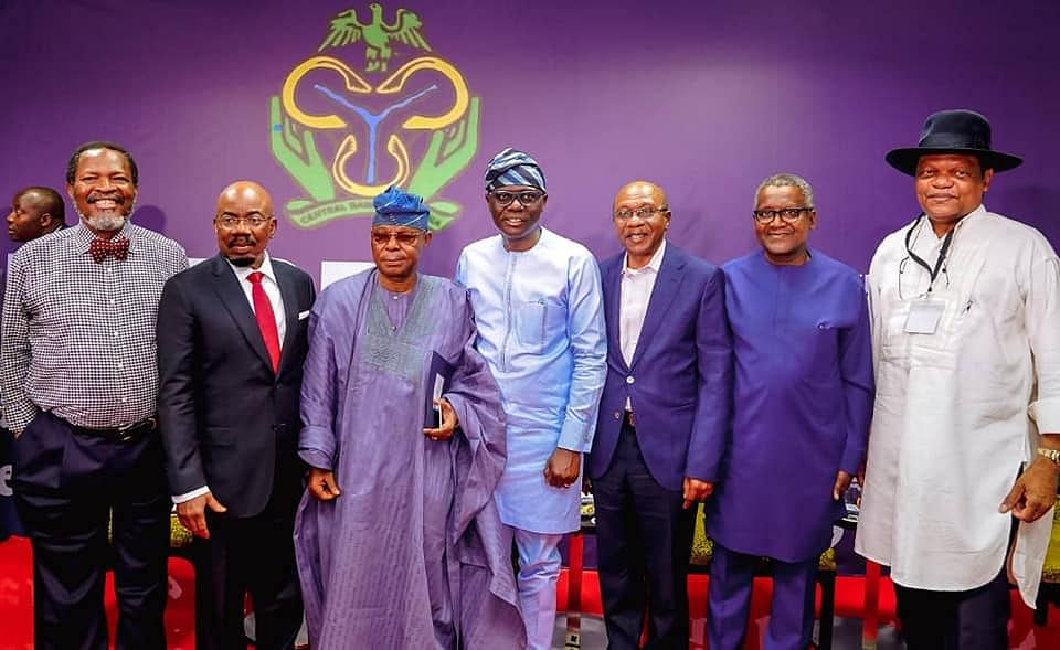 """Governor Babajide Sanwo-Olu and others at the """"Going for Growth"""" session"""