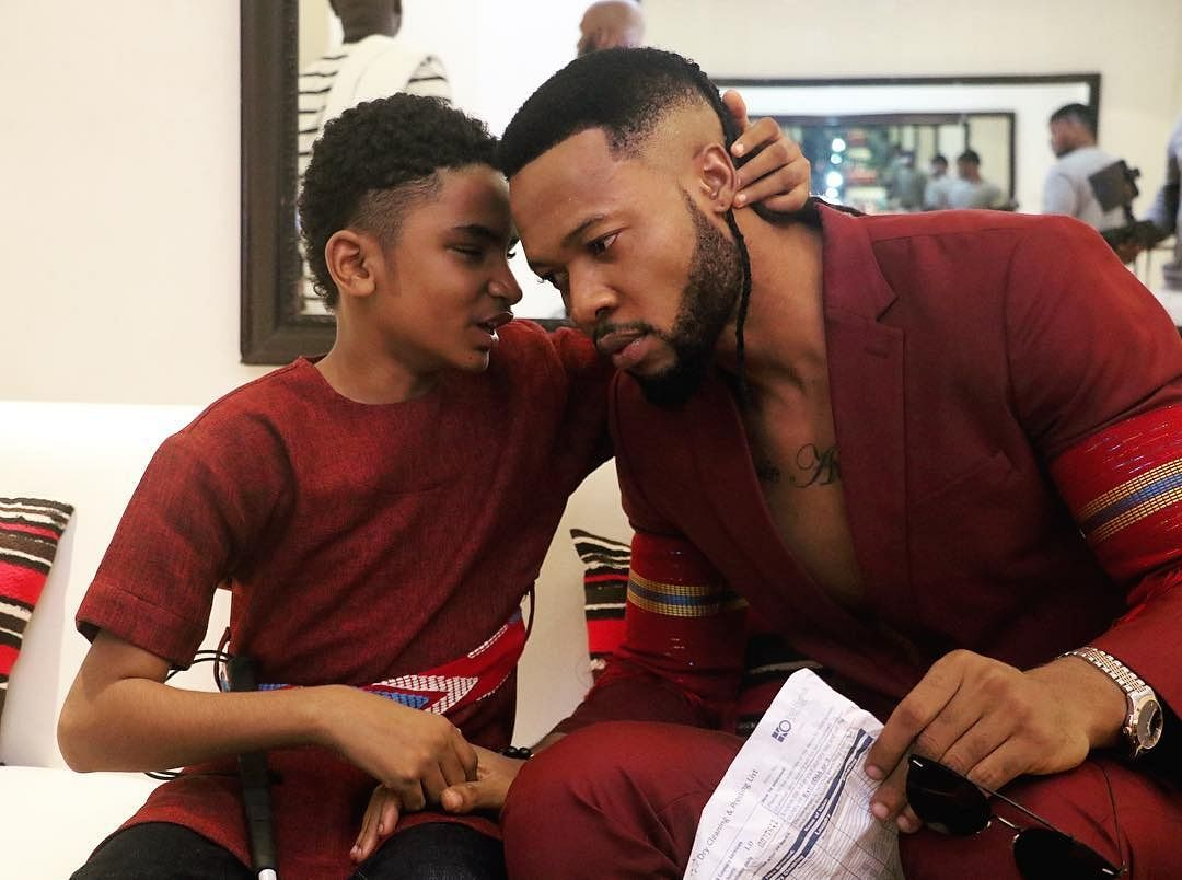 Flavour and his son Semah