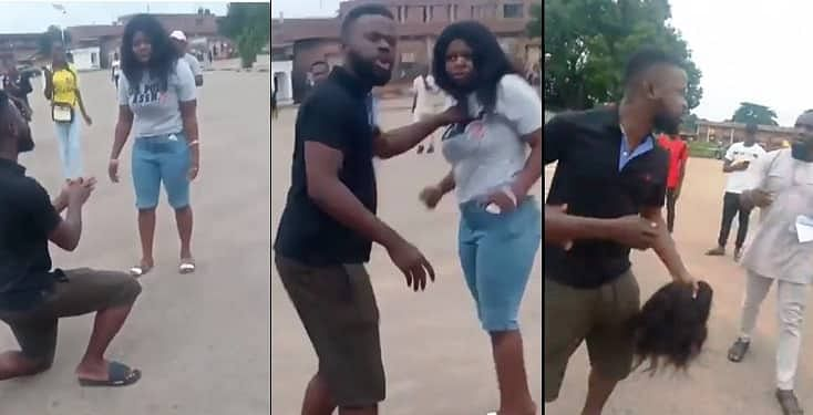 Lady Beaten For Publicly Rejecting Fiance's Marriage Proposal