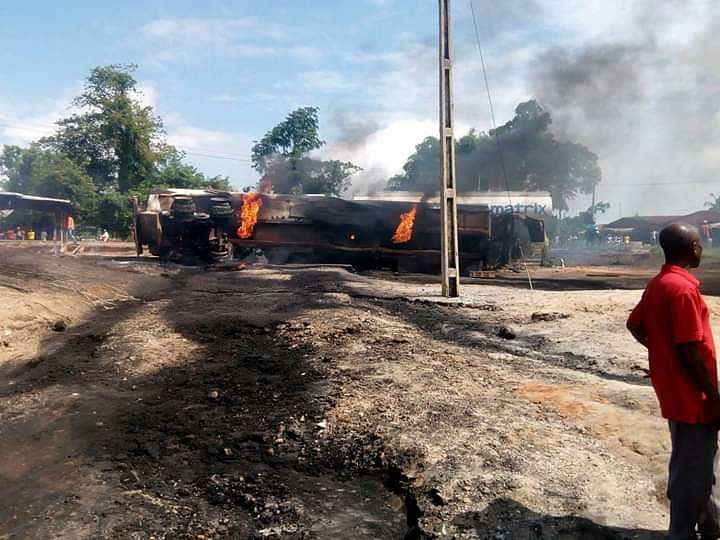 Fuel Tanker Explodes In Edo State