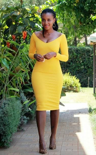 A midi gown look