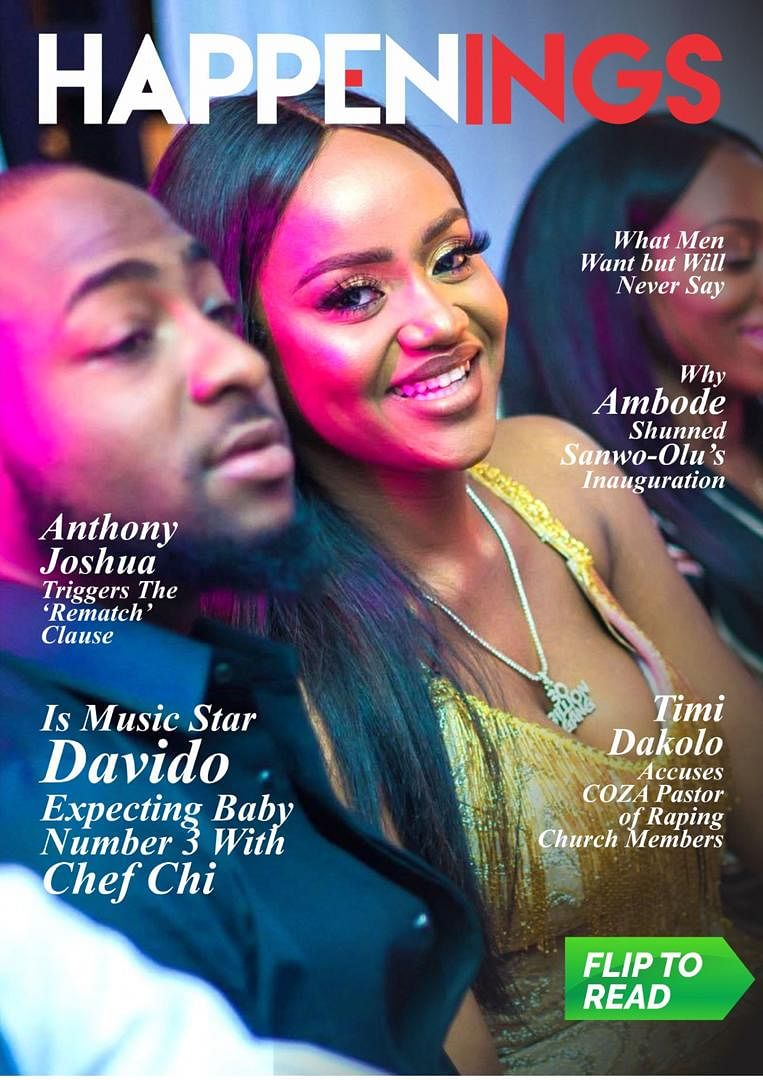 Happenings Newsletter: Is Chioma Pregnant with Davido's Child?