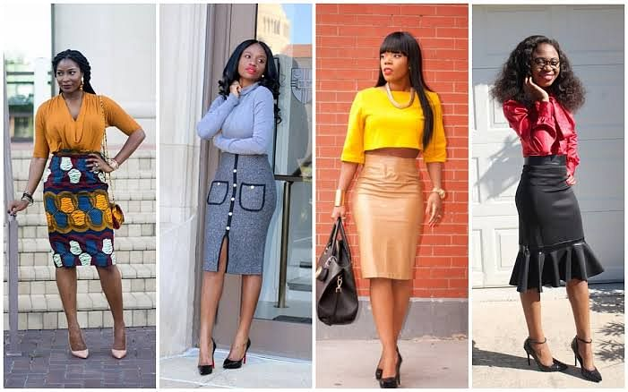 Pencil skirt looks
