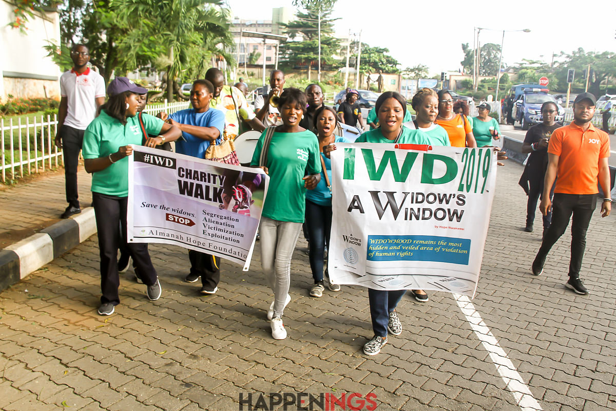 Almanah Hope Foundation And Media Personality, Tushbee, Hold International Widows' Day Charity Walk