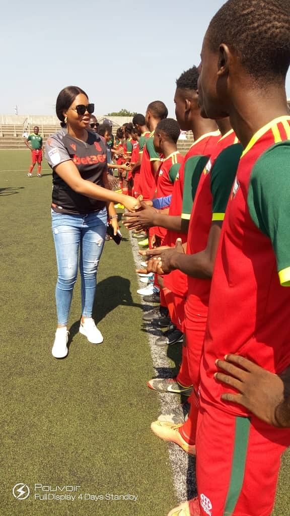 Etebo's wife, Madam Bethel Etebo, at the opening ceremony in Legacy Pitch, Surulere