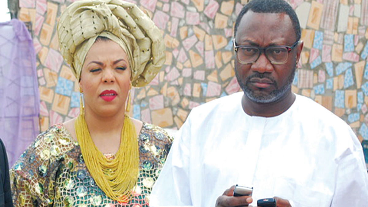 Femi and Nana Otedola